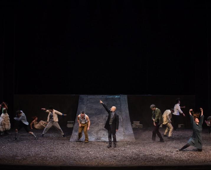 Glumačka ekipa predstave Gorski divovi