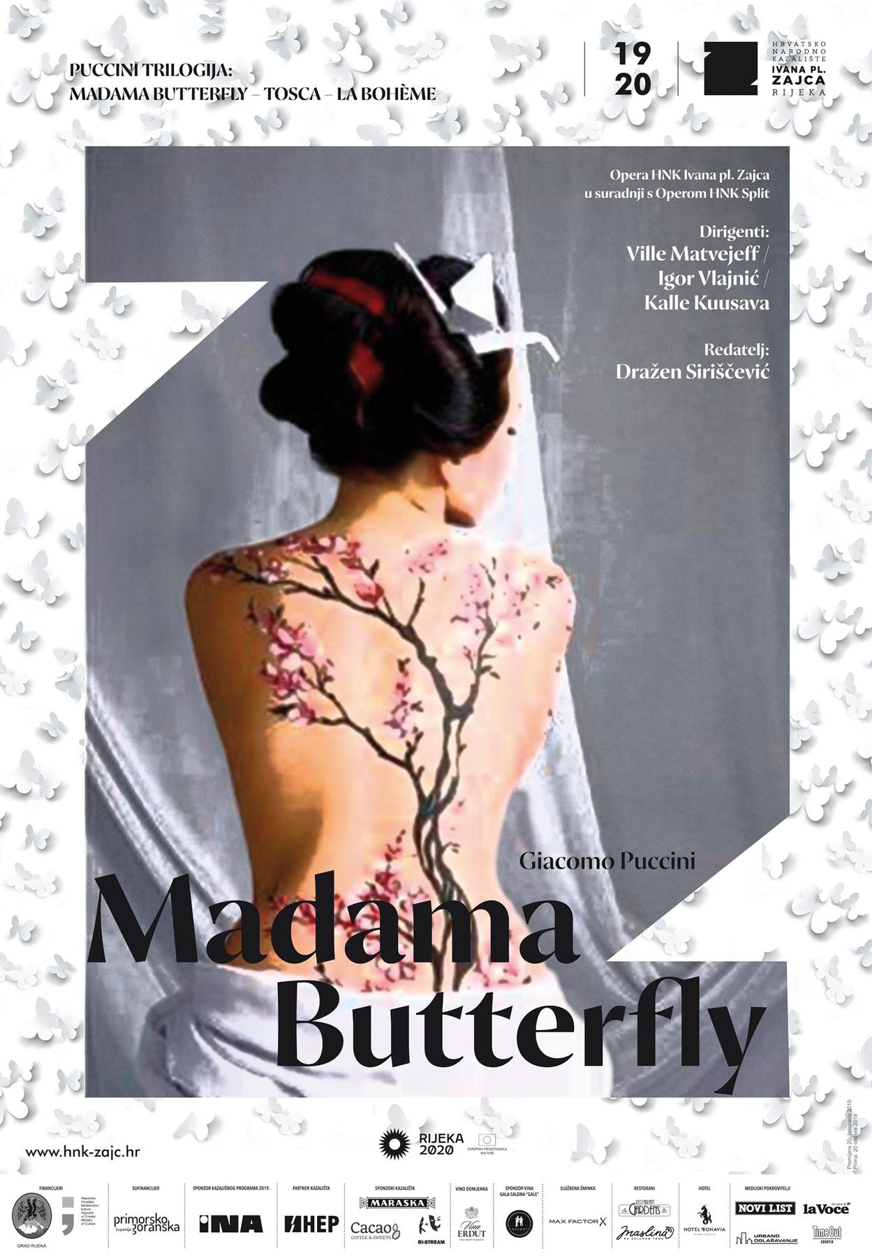 Premijera opere 'Madame Butterfly' u riječkom HNK-u