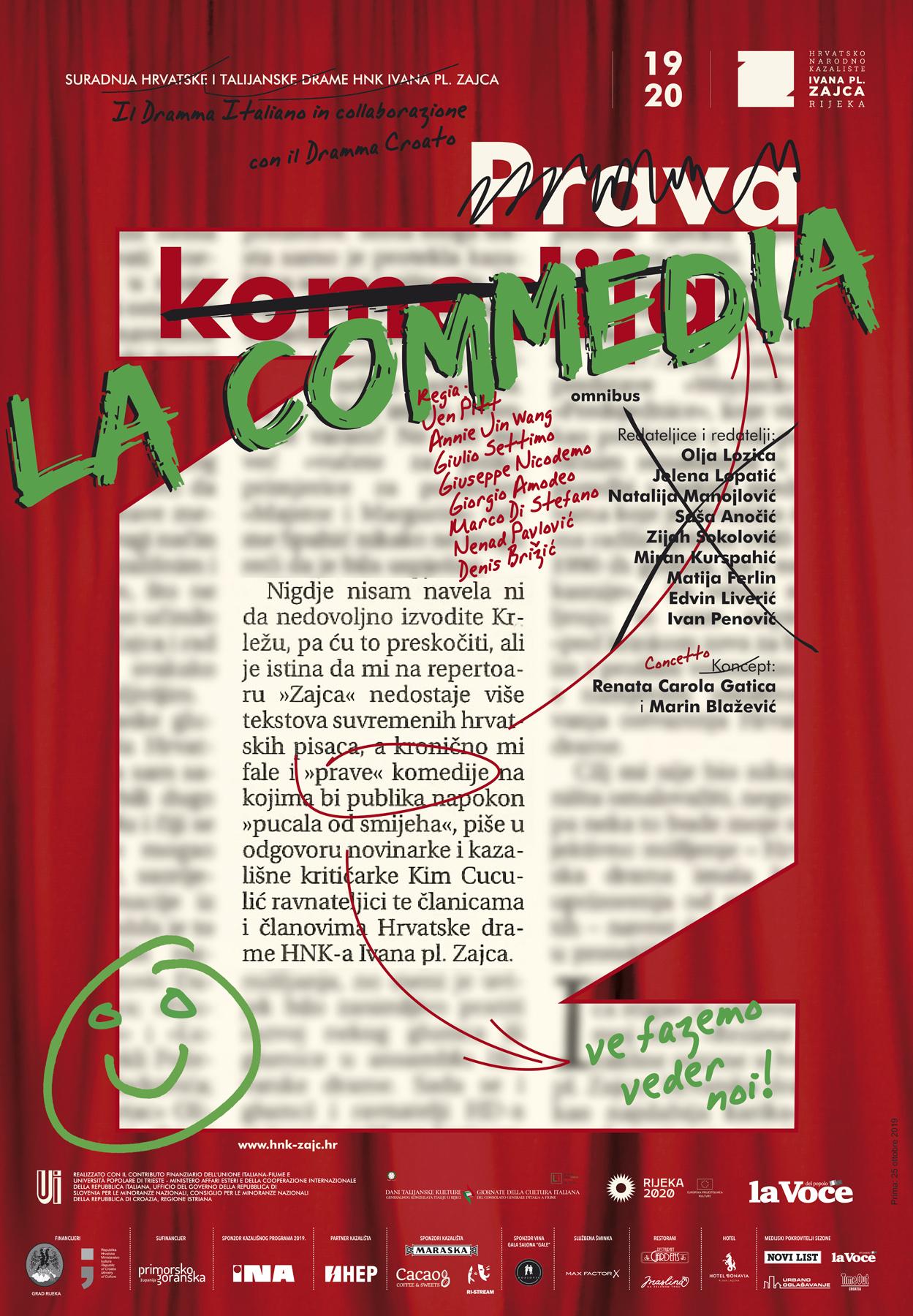 Premijera omnibus predstave 'La Commedia' u riječkom HNK-u