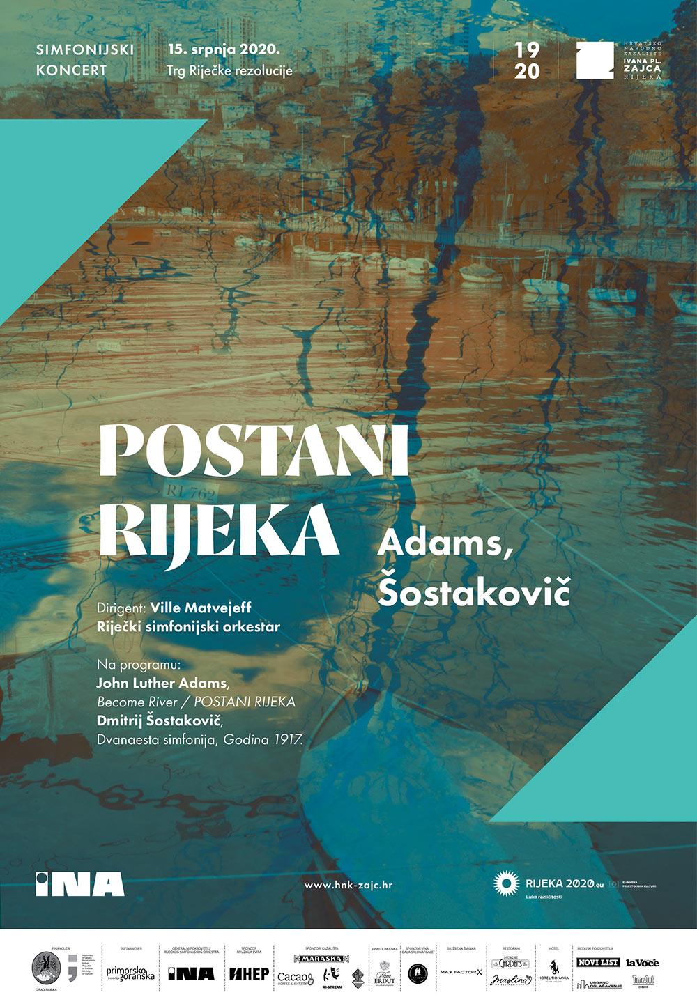Koncert Riječkog simfonijskog orkestra 'Postani Rijeka' na Trgu Riječke rezolucije